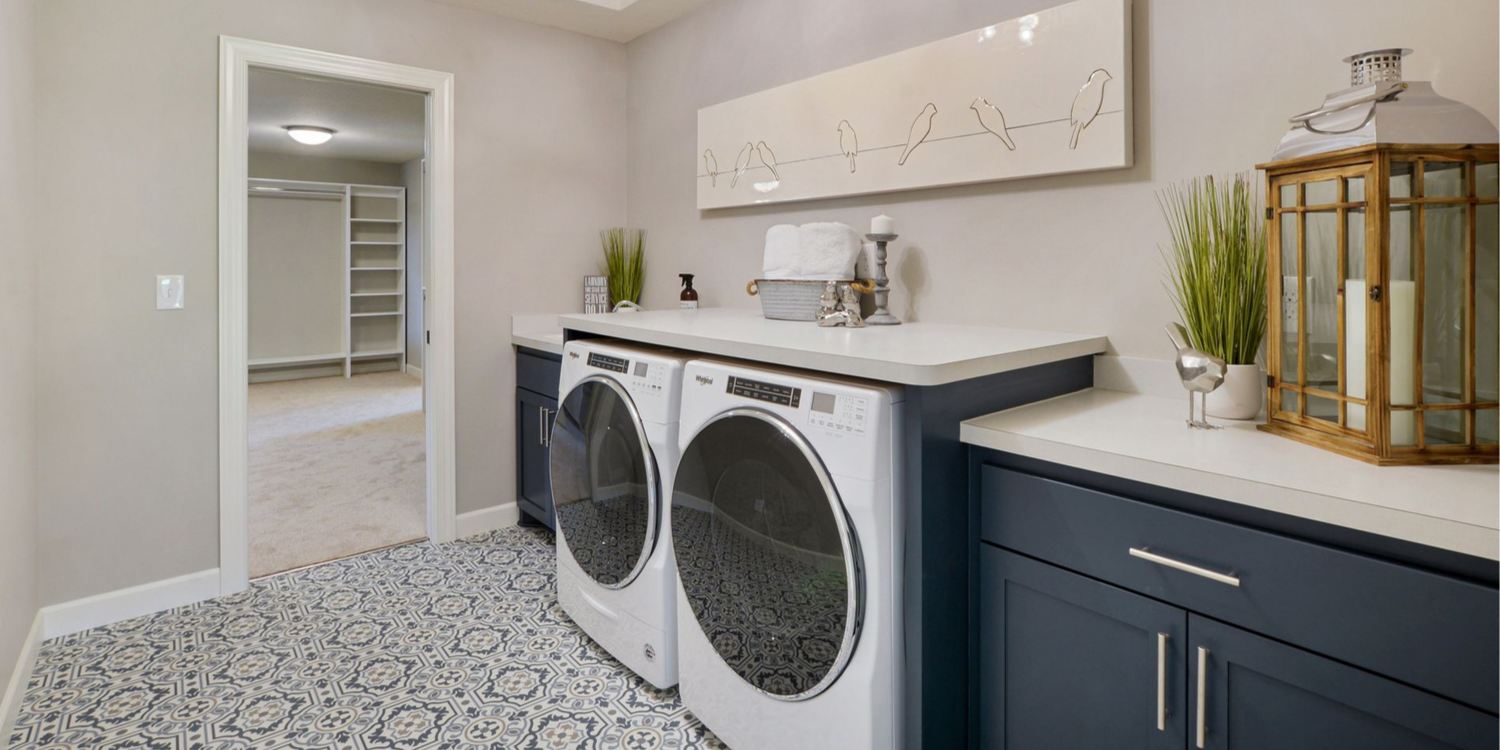Laundry Room in Custom Home in Zimmerman MN