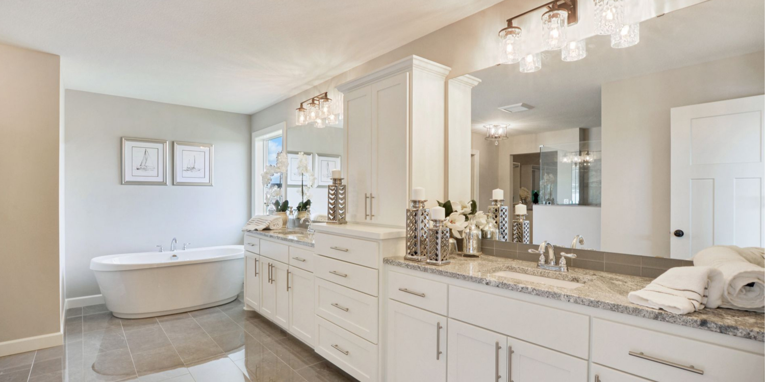 Luxury Master Bathroom in Blaine MN Custom Home