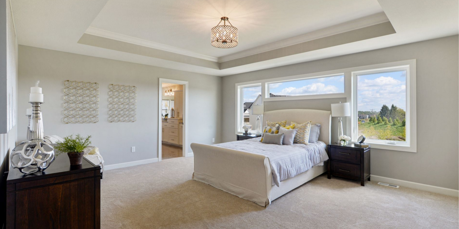Master Bedroom in Blaine MN Custom Home